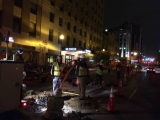 Night OSP Construction Downtown Kansas City, MO-2015